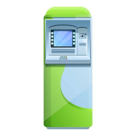 University atm machine icon. Cartoon of university atm machine vector icon for web design isolated on white background Ilustración de vector