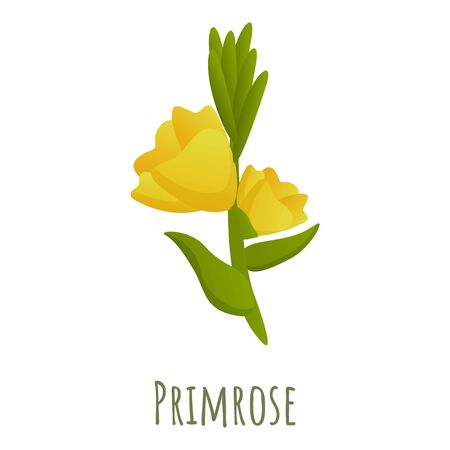 Primrose flower icon. Cartoon of primrose flower vector icon for web design isolated on white background Vecteurs