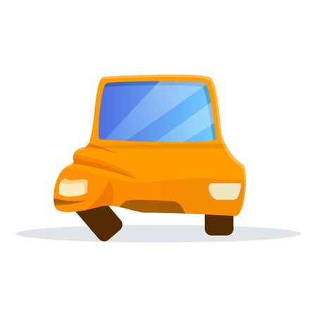 Car side accident icon. Cartoon of car side accident vector icon for web design isolated on white background Illustration