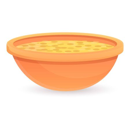 Superfood soup icon. Cartoon of superfood soup vector icon for web design isolated on white background 矢量图像