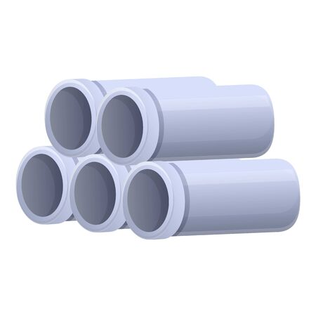 Metal pipes icon. Cartoon of metal pipes vector icon for web design isolated on white background