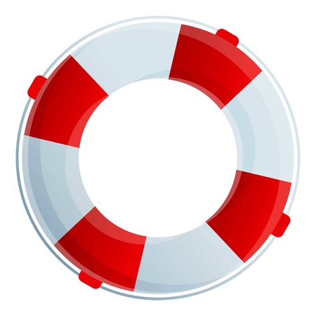 Lifebuoy icon. Cartoon of lifebuoy vector icon for web design isolated on white background