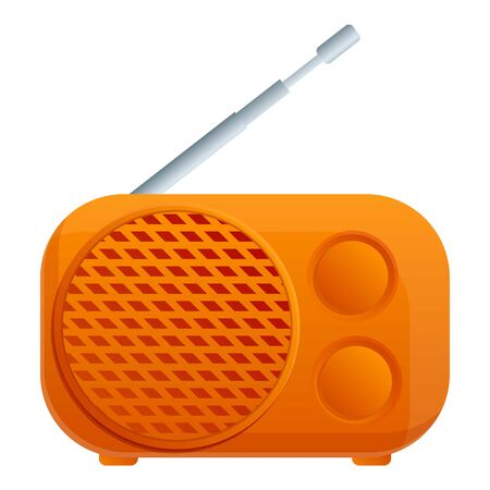 Camping radio icon. Cartoon of camping radio vector icon for web design isolated on white background