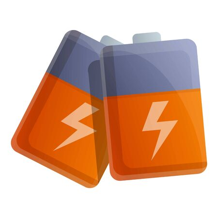 Survival battery pack icon. Cartoon of survival battery pack vector icon for web design isolated on white background