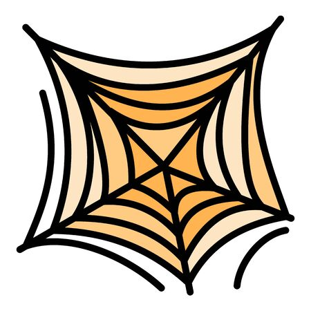 Scary spider web icon. Outline scary spider web vector icon for web design isolated on white background