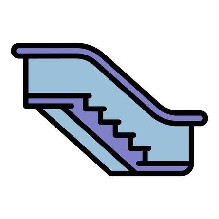 Escalator icon. Outline escalator vector icon for web design isolated on white background Иллюстрация