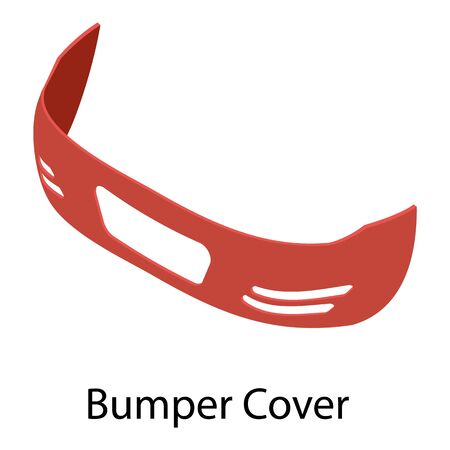 Bumper cover icon. Isometric of bumper cover vector icon for web design isolated on white background