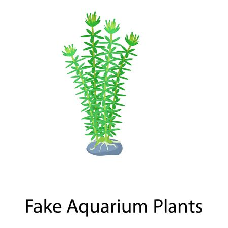 Fake aquarium plants icon. Isometric of fake aquarium plants vector icon for web design isolated on white background