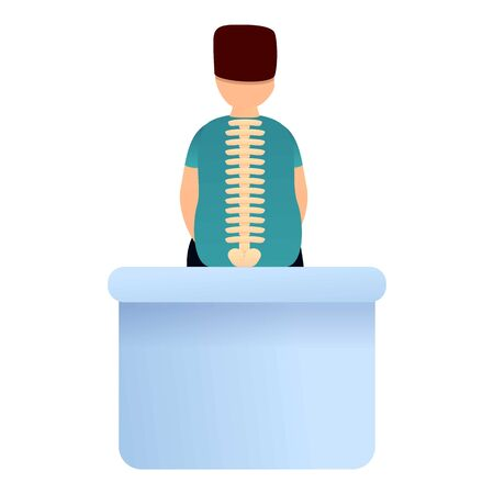 Human healthy spine icon. Cartoon of human healthy spine vector icon for web design isolated on white background Illustration