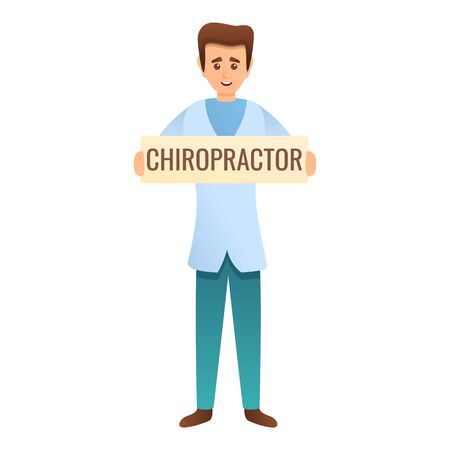Chiropractor clinic icon. Cartoon of chiropractor clinic vector icon for web design isolated on white background