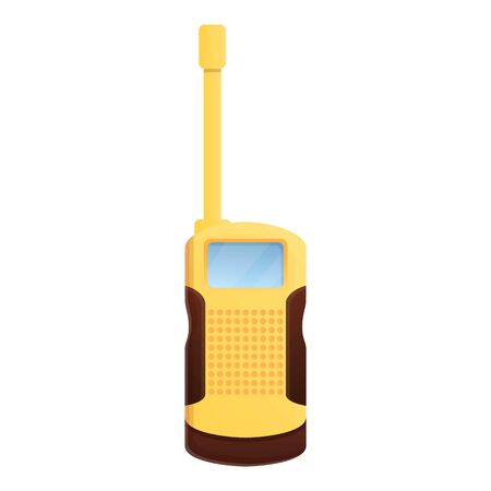 Antenna walkie talkie icon. Cartoon of antenna walkie talkie vector icon for web design isolated on white background 向量圖像