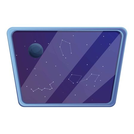 Spaceship window icon. Cartoon of spaceship window vector icon for web design isolated on white background Ilustrace
