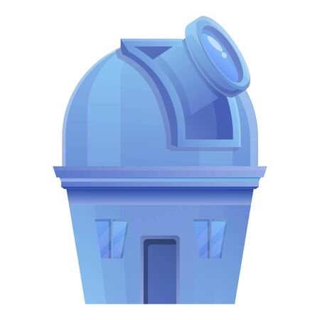 Observatory building icon. Cartoon of observatory building vector icon for web design isolated on white background