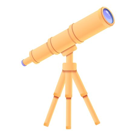 Professional telescope icon. Cartoon of professional telescope vector icon for web design isolated on white background