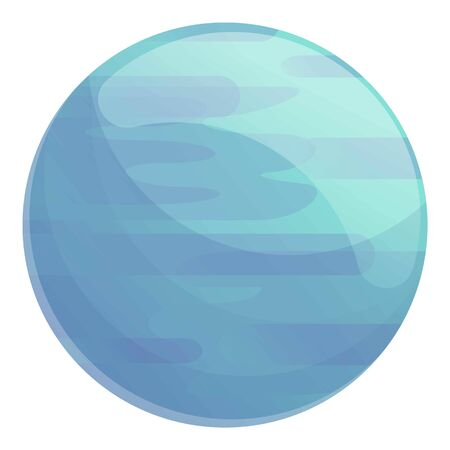 Blue planet icon. Cartoon of blue planet vector icon for web design isolated on white background