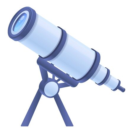 Astronomy spyglass icon. Cartoon of astronomy spyglass vector icon for web design isolated on white background