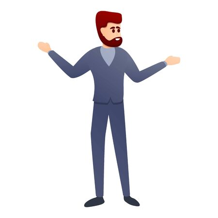 Hipster planetarium visitor icon. Cartoon of hipster planetarium visitor vector icon for web design isolated on white background Ilustrace