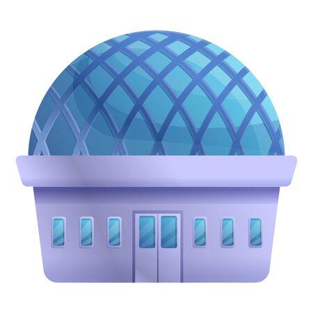 Planetarium building icon. Cartoon of planetarium building vector icon for web design isolated on white background Ilustrace
