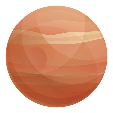 Uranus planet icon. Cartoon of uranus planet vector icon for web design isolated on white background