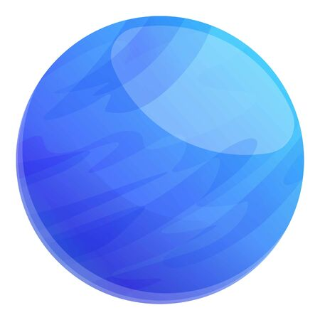 Blue space planet icon. Cartoon of blue space planet vector icon for web design isolated on white background Ilustrace