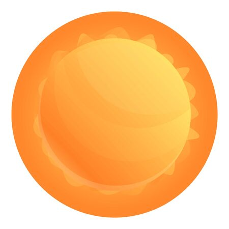 Space sun icon. Cartoon of space sun vector icon for web design isolated on white background Ilustrace
