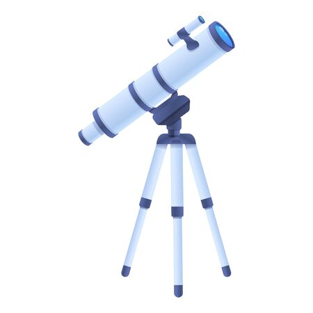 Home telescope icon. Cartoon of home telescope vector icon for web design isolated on white background