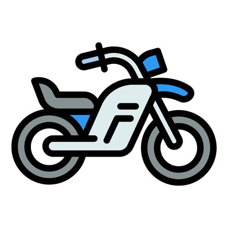 Street bike icon. Outline street bike vector icon for web design isolated on white background