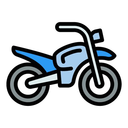 Retro moped icon. Outline retro moped vector icon for web design isolated on white background