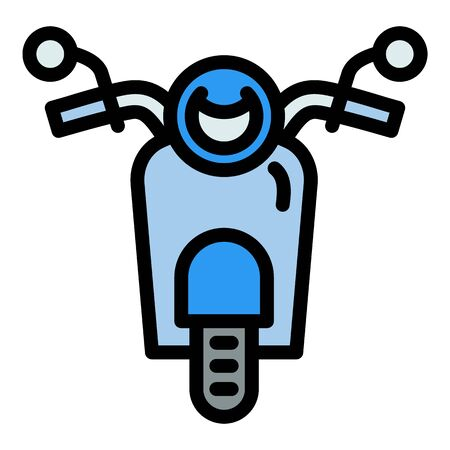 Front view scooter icon. Outline front view scooter vector icon for web design isolated on white background