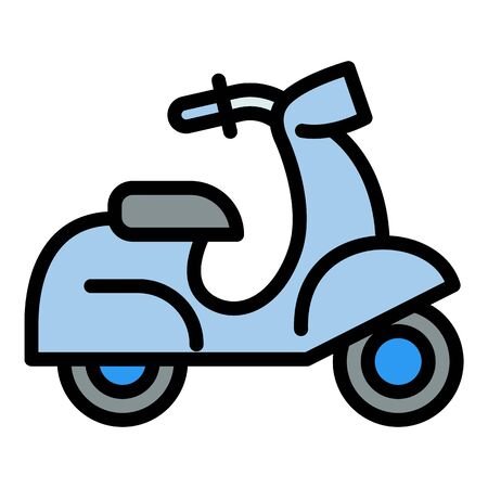 Italian scooter icon. Outline italian scooter vector icon for web design isolated on white background Ilustrace