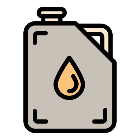 Oil canister icon. Outline oil canister vector icon for web design isolated on white background 向量圖像