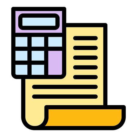 Finance calculator report icon. Outline finance calculator report vector icon for web design isolated on white background Vettoriali