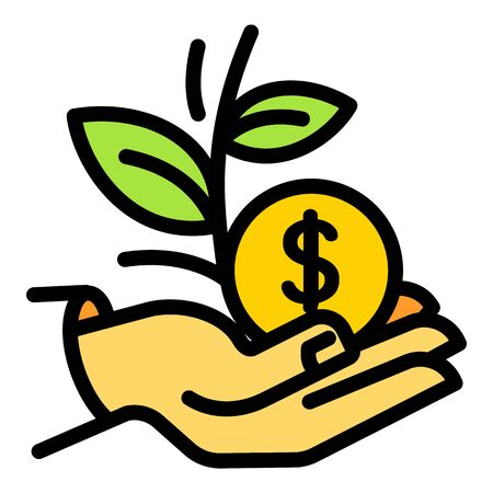 Keep money plant icon. Outline keep money plant vector icon for web design isolated on white background