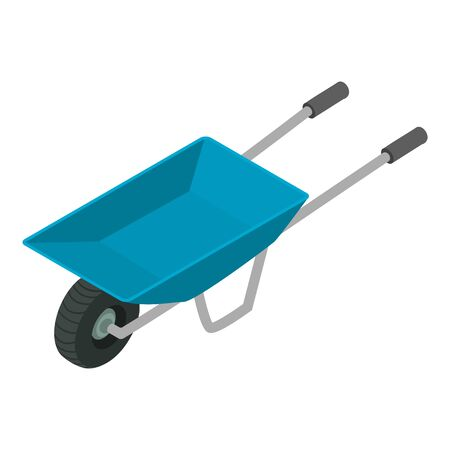 Garden wheelbarrow icon. Isometric of garden wheelbarrow vector icon for web design isolated on white background Illusztráció