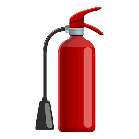 Foam extinguisher icon. Cartoon of foam extinguisher vector icon for web design isolated on white background