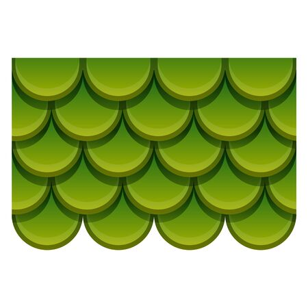 Green metal roof icon. Cartoon of green metal roof vector icon for web design isolated on white background