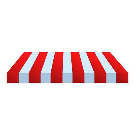 Icono de techo de tienda de calle. Caricatura de techo de la tienda de la calle icono vectoriales para diseño web aislado sobre fondo blanco.