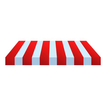 Street shop roof icon. Cartoon of street shop roof vector icon for web design isolated on white background