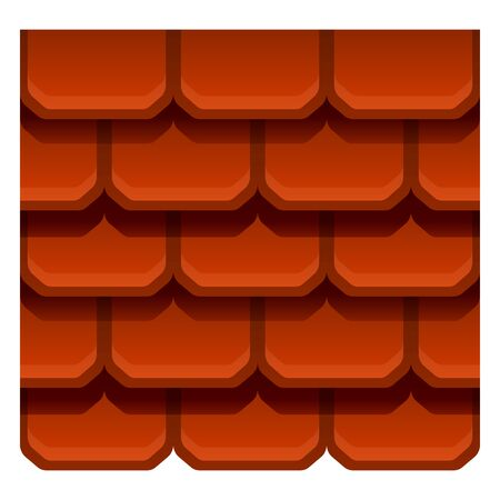 Material roof icon. Cartoon of material roof vector icon for web design isolated on white background