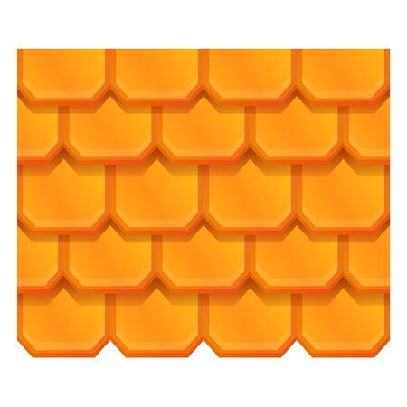 Tile roof icon. Cartoon of tile roof vector icon for web design isolated on white background  イラスト・ベクター素材