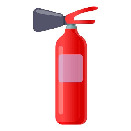 Powder fire extinguisher icon. Cartoon of powder fire extinguisher vector icon for web design isolated on white background