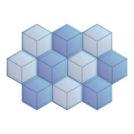 Mosaic cube paving icon. Cartoon of mosaic cube paving vector icon for web design isolated on white background