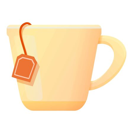 Tea cup icon. Cartoon of tea cup vector icon for web design isolated on white background Illusztráció