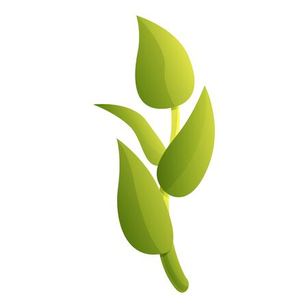 Tea plant icon. Cartoon of tea plant vector icon for web design isolated on white background