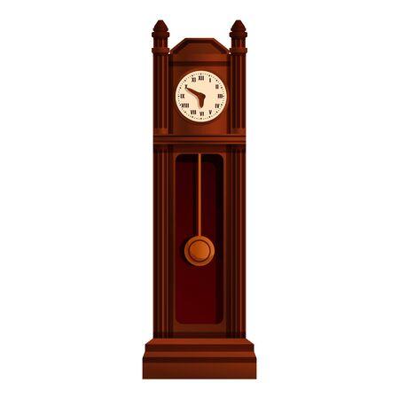 Balance pendulum clock icon. Cartoon of balance pendulum clock vector icon for web design isolated on white background Stockfoto - 147329748
