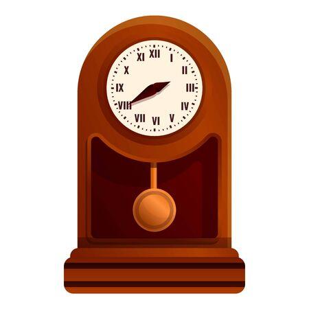 Decoration pendulum clock icon. Cartoon of decoration pendulum clock vector icon for web design isolated on white background