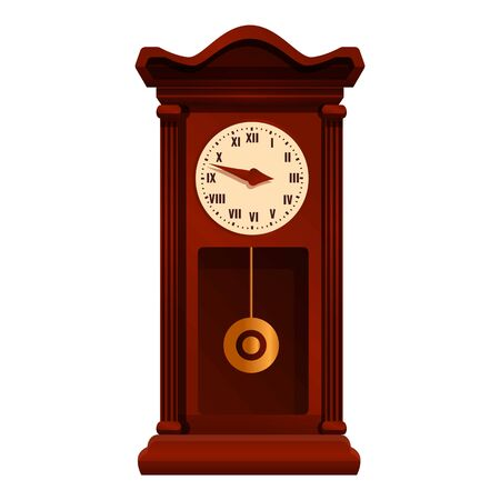 Pendulum clock time icon. Cartoon of pendulum clock time vector icon for web design isolated on white background Illusztráció