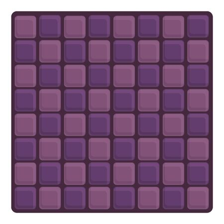 Violet paving icon. Cartoon of violet paving vector icon for web design isolated on white background