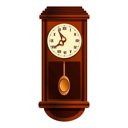 Wall pendulum clock icon. Cartoon of wall pendulum clock vector icon for web design isolated on white background Stockfoto - 147333465