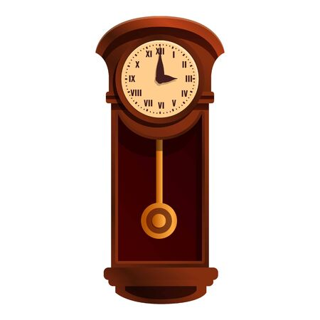 Kinetic pendulum clock icon. Cartoon of kinetic pendulum clock vector icon for web design isolated on white background